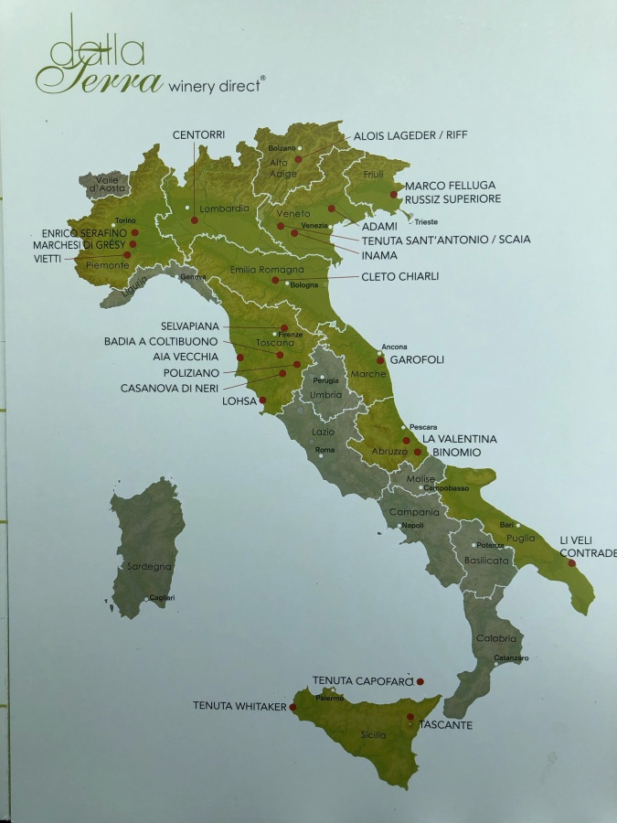 Tour of Italy Wine Tasting with Dalla Terra and Wine Trends